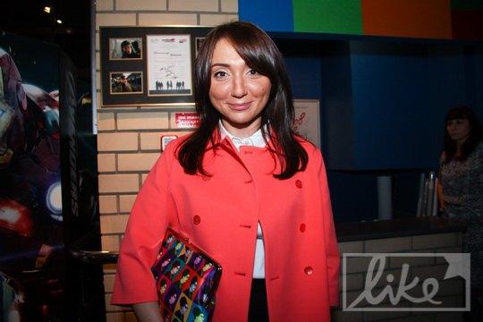 Алена Литвин на показе фильма Ольги Навроцкой