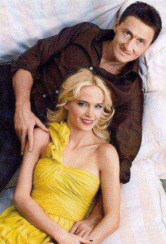 Наташа с мужем Александром Чистяковым