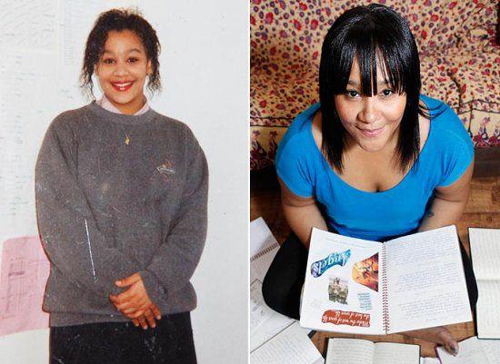Наоми Джейкобс в 15 лет и сейчас