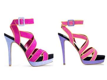 слева: туфли Jessica Simpson; справа: туфли Christian Louboutin