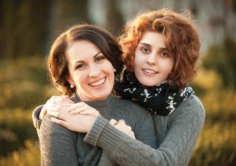 Оксана Калетник с дочкой