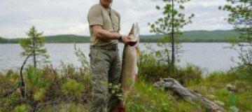 Путин рассказал, как смог поймать гигантскую щуку
