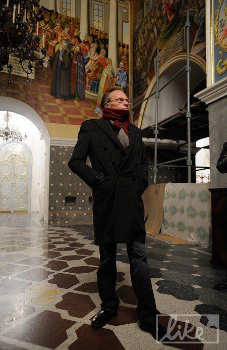 Ларри Кинг в Киево-Печерской Лавре