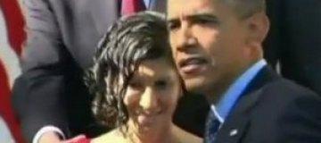 Обама поймал падавшую в обморок беременную женщину