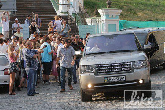 Мадонна передвигалась по Киеву на Range Rover