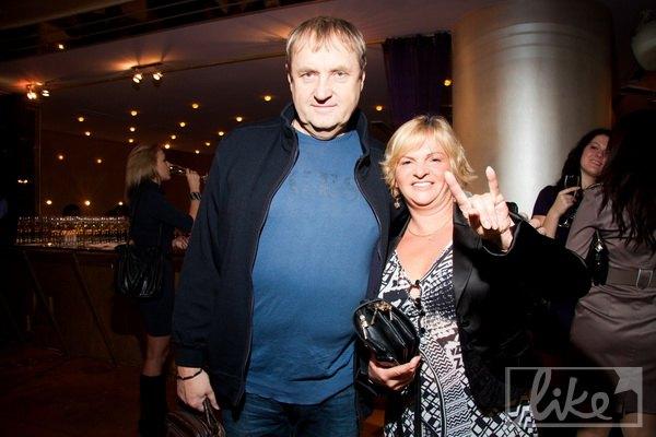 Продюсер Владимир Бебешко с женой Александрой Белиной