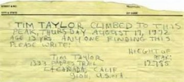 Пенсионер нашел на горе 40-летнюю записку