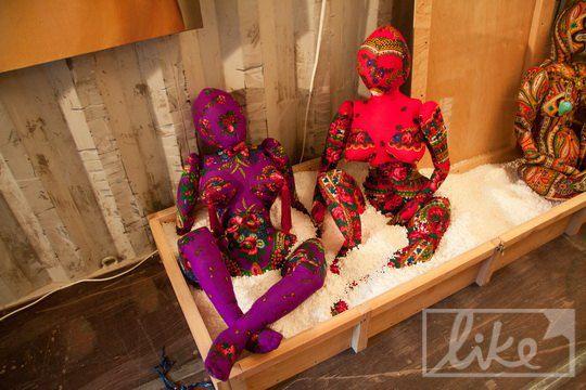 Выставку дополнили куклами из платков
